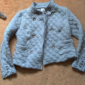 Quilted Double Breast Button Jacket